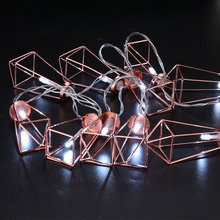 10LED Diamond Light String Industrial Iron Frame Lamp Festival Garden Decoration(China)