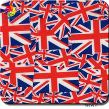 Free shipping TSAUTOP Size 0.5m x 2m British flag holographic water transfer printing film 3d water transfer film TSSY611(China)