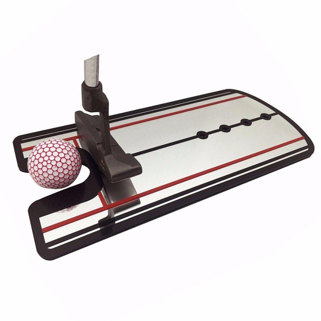 Portable 1Pcs Golf Putting Mirror Alignment Training Aid Swing Trainer Eye Line Golf Training Aids Swing Straight Practice Tool