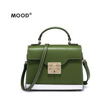 MOOD new lock handbag contracted bump color restoring ancient ways one shoulder hand bag leather material joker free shipping