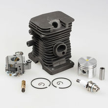 38mm Cylinder Piston kits with Zama Carburetor Carb Spark Plug For Stihl Calm MS180 018 Chainsaw(China)