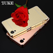 Brand Tuke Luxury Aluminum Metal Frame Case For Sony Xperia X F5121 Dual F5122 Back Case Phone Cover Fundas Coque