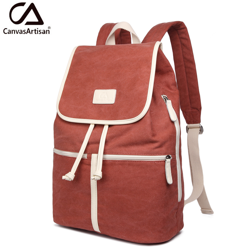 Canvasartisan Top Quality Women Canvas Travel Backpack Casual Back Bag Schoolbag Female Rucksack Backpacks Large Capacity<br>