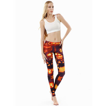 wholelsales New Fashion Women leggings 3D Printed color legins Ray fluorescence leggins pant legging for Woman(China)