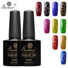 Saviland 1pcs 12 Colorful Crack UV Nail Lacquer Crackle Shatter Gel Nails Polish Professional Cracking Nail Varnish(China)