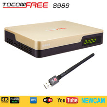 Tocomfree s989 with acm digital satellite receiver +wifi antenna free and support newcam work for Brazil /Chile South America