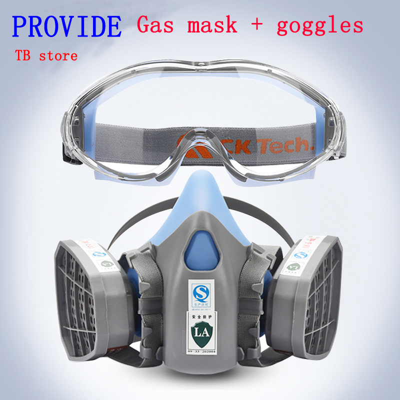 PROVIDE protective mask + Goggles Brand protection high quality respirator gas mask against Toxic gas Painting Graffiti gas mask<br>