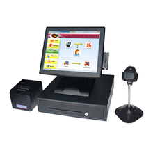 2119 15 Inch Touch Screen Cash Register Touch Cash Register Cashier Printer Scanner Cash Drawer Machine VFD POS System