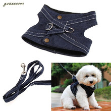 Dog Harness Canvas Pet Vest Type Traction Rope Puppy Dog Leash Walking Tool Fashion