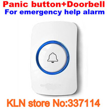 Door Bell or Panic Button Wireless 433mhz as Emergency Call Button for Elderly Help Alarm 433MHZ EV1527(China)