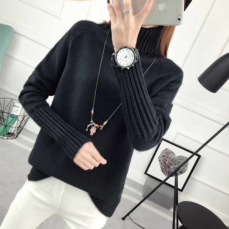 Winter Turtleneck Sweater, Women's 2017 New Design Thick Pullover 37