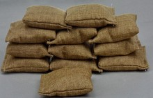 1: 6 soldiers 12inch scene components of World War II modern work bunker platform props sandbags 10pcs/set(China)