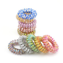 Wholesale 10 Pcs Telephone Plastic Elastic Hair Bands For Girl Ponytail Holders Hair Scrunchies Hair Jewelry Accessories