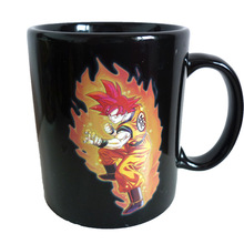 Mark Dragon Ball Z Coffee Mug Super Saiyan Color Changing Cup Sensitive Ceramic Tea La Copa Friends Gift