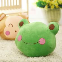 New Coming 1Pc 40Cm Cute Green Frog Plush Toys Kids pillow Cushion Soft stuffed plush Animal Baby Birthday Christmas Gift