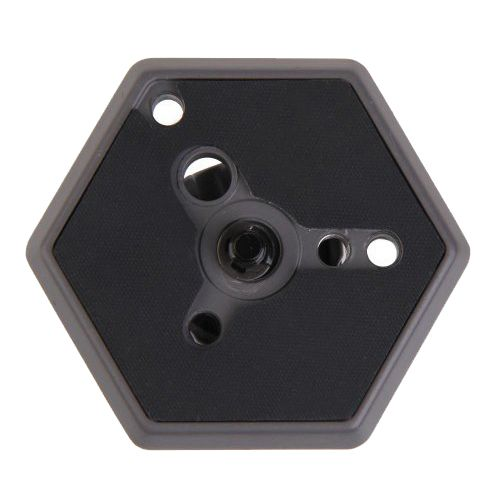 Replacement Hexagonal Quick Release Plate with 1/4inch -20 Screw for Camera Black