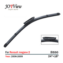 "S550 Wipers Size:24""+18""Fit For Renault Megane 2 Grandtour/ESTATE (2006-2009)Wiper blade rubber replacement Limpiaparabrisas"