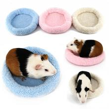 Cute Soft Mini Sleeping Bed Cushion Winter Warm Guinea Pig Cage House Mat for Pet Rat Hamster Ferret Squirrel Accessory New(China)