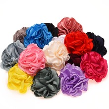 4PCS Big Burining Flowers 8cm Artificial Flowers for New Grils Rosette Flowers Hair Accessories No Hair Clips(China)