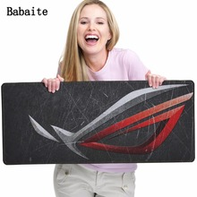 Babaite Republic of gamers Mouse pad CS GO E-sports Gaming Mouse pads Lock Edge Rubber Speed/Control Version keyboard mouse mat