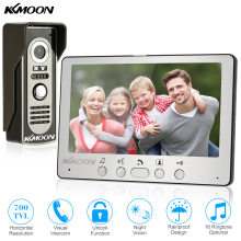 KKmoon Visual Intercom Doorbell 7'' TFT LCD Wired Video Door Phone System Indoor Monitor 700TVL Outdoor IR Camera Support Unlock