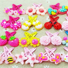 20PC Wholesale Mix Color Styles Flower Cartoon Assorted Lovely Kids Girls Hair Pin Clips Barrettes Hair Accessories Jewelry
