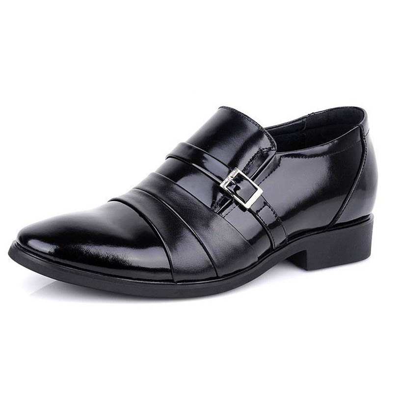 SG9977-Black patent leather shoes/footwear with buckle strap for men dress formal suit Increase Height 6CM Sz37-42 FREE SHIPPING<br><br>Aliexpress