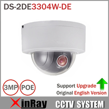 Express Shipping HiK PTZ IP Camera DS-2DE3304W-DE 3MP Network Mini Dome Camera 4X Optical Zoom Support Ezviz Remote View(China)