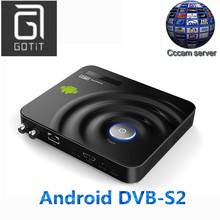 GOTiT Y1 Android DVB-S2 with One-Year-CCCAM Cline Multi-CAS Supported Android DVB Decode Digital Satellite Receiver Set top Box