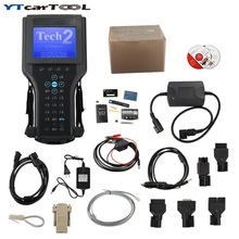 2016 Top Quality GM TECH2 Full Set Support 6 Software(GM,OPEL,SAAB ISUZU,SUZUKI,HOLDEN) GM Tech 2 Scanner + Candi Free Shipping