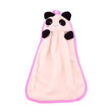 3pcs Cartoon Hand Mop Cleaner Soft Washcloth Loop Mop Coral Velvet Facecloth Car Washing Cleaning Kitchen Bathroom Hanging Towel