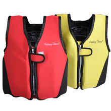 Kids Life Jacket Neoprene Swimwear Polyester Foam Vest Survival Suit with Whistle for Swimming Drifting