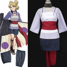 Anime Cartoon Character Costumes Naruto Temari Cosplay Costume 2nd Version custom made(China)