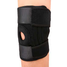 Adjustable Elastic Knee Support Brace Kneepad Patella Knee Pads Hole Sports Kneepad Safety Guard Strap For Running Basketball(China)