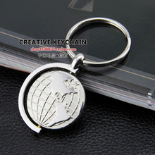 Globe keychain key ring key chain personalized logo