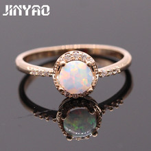 Buy JINYAO Beautiful Round Jewelry Fire Opal & Zircon Gold Color Wedding Finger Ring Women Fashion Party Jewelry 5colors for $13.99 in AliExpress store