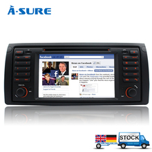 A-Sure In Car DVD Player GPS for BMW E39 X5 5 Series E38 E53 Blueototh RDS sat nav stereo USB Navigation(Hong Kong)