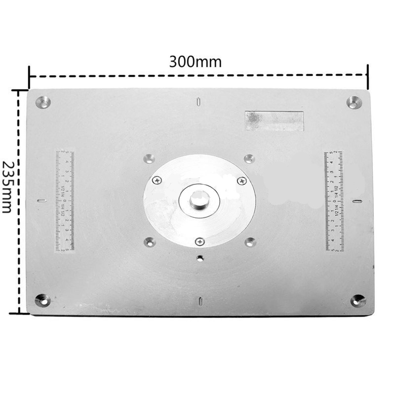 Aluminum router table insert plate for diy woodworking router due to the difference between different monitors the picture may not reflect the actual color of the item greentooth Gallery