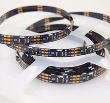 DC5V WS2811 IC controlled 335 side emitting LED digital strip;addressable RGB color;34leds/m;black pcb;non-waterproof;5m long