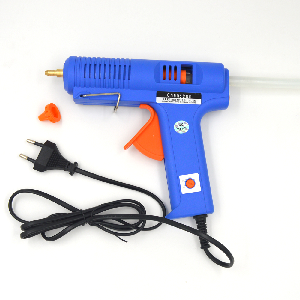 Chanseon Hot Melt Glue Gun 11mm 150W EU Plug Glue Heater +Copper Nozzle With Free 1pc Glue Stick Graft DIY Repair Electric Tool