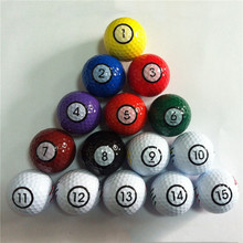 TAOA 15pcs/bag Golf Balls Colored golf ball 2 layer balls Competitive Golf Balls Free Shipping
