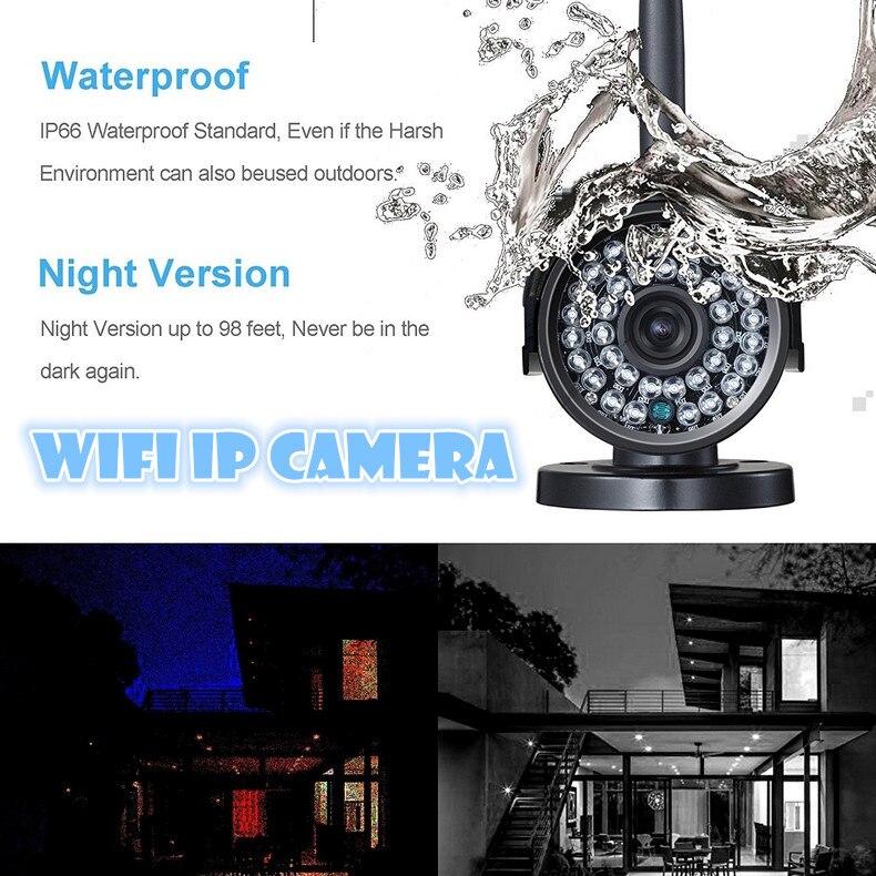 WIRELESS IP CAMERA outdoor waterproof  720P 1.0Mega HD Mega wifi IR LED  P2P Onvif CCTV  surveillance video recorder system <br><br>Aliexpress