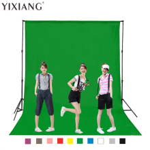 YIXIANG Green Color Cotton Non-pollutant Textile Muslin Photo Backgrounds Studio Photography Screen Chromakey Backdrop Cloth(China)