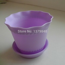 50 pieces/lot Gardening Mini Plastic Flower Pots Vase Square Flower Bonsai Planter Nursery Pots /flower pots planters(China)