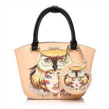 DuoLaiMi 2017 Owl Girl Women Big Tote Leather Bag European American Style Casual Tote Women Shopping Shoulder Bag Buy 1 Get 2