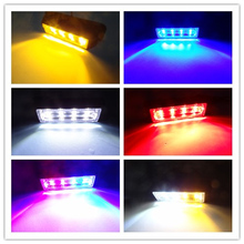 30x 4w 18 mode 12V-24V 4 LED truck van side marker external Emergency Truck Strobe lights Car Flash Light tail lights waterproof