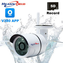 V380 APP Waterproof IP Camera WiFi Outdoor 4X Digital Zoom 720P WiFi Cameras Support Micro SD Record Motion Alarm CCTV Cam Zoom