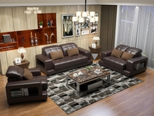 Modern leather sofa for Sofa set living room furniture,couches for living room(China)