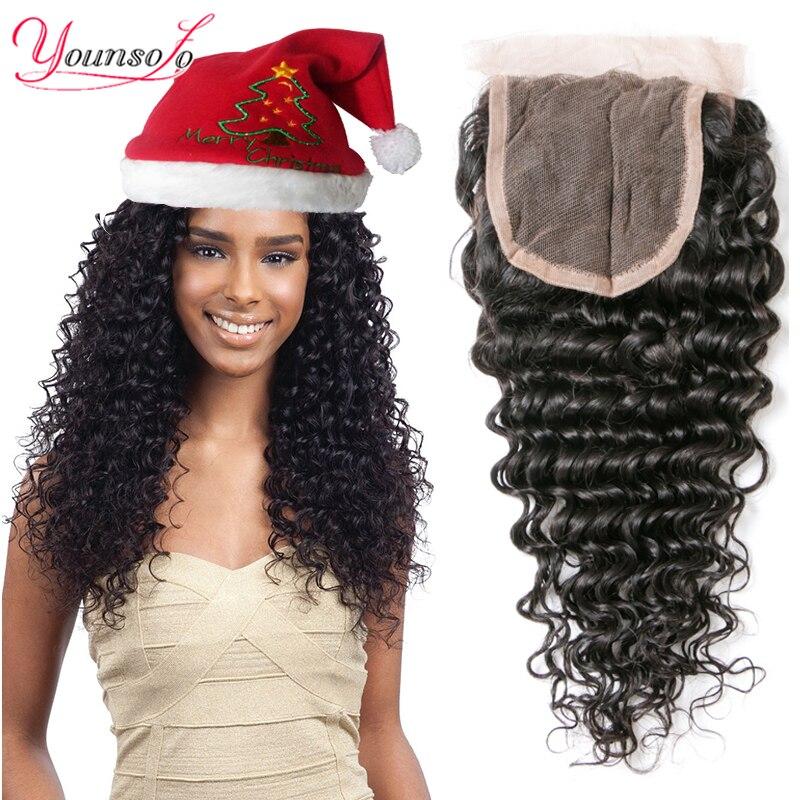 8A Peruvian Deep Wave Closure Peruvian Virgin Hair 4x4 Swiss Lace Closure Deep Wave Curly Peruvian Lace Closure Free Middle Part<br><br>Aliexpress