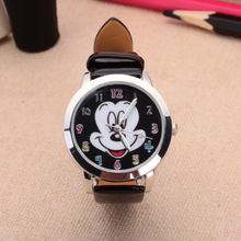 2017 New fashion Colorful watch women children cartoon watches Mickey Cute watches lovely relogio Kids Watches reloj mujer